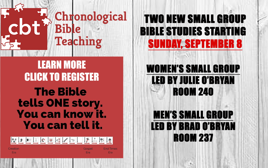 New Discipleship Bible Study Groups Launching September 8